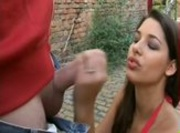 Zafira Handjob On The Street
