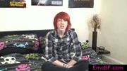 Pierced redhead twink interview by emobf