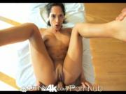 Tiny4K Petite exotic girl massaged & fucked by big dick