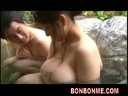 horny big tits fatty milf fucked with guest in hot spring