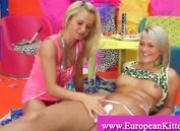 Blonde pussy a la creme getting plesased