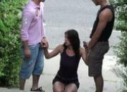 Daring Public Sex Street Threesome AWESOME