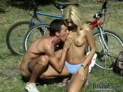Gina Blue was riding her bike