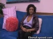 Big boobs black girlfriend sucking cock
