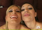 Courtney Simpson & Chloe Morgan - Sperm Splattered