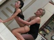 Strap-on Girl Pantyhose Fuck