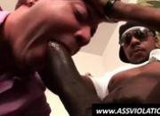 White gay suck and hump a fat black dick