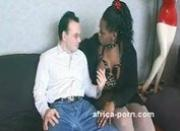 Horny masochist ebony slut fucks a bunch of white cocks