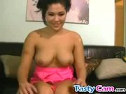 Exotic cam babe teasing and masturbating