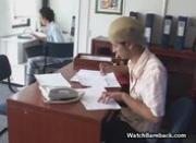 Amateur Latin Office Blowjob
