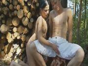 Kinky Russian sex in woods