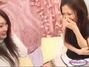Japan Lesbian Threesome Kissing Sucking