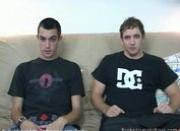 Couple young twinks jerkoff