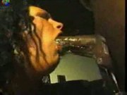 Wet Sloppy Busty Interracial Big Black Cock Sucking
