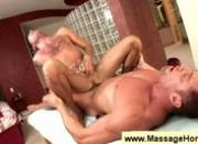 Penis to butt massage from a homosexual