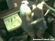 My exgf and boyfriend having fun in toilet