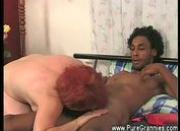 Grandma sucks young black cock