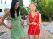 Two russian girls sucking friends cock