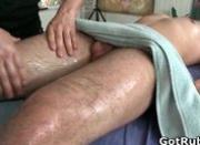 Dude gets his ass oiled up and fucked