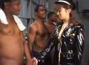 Chiharu Moritaka Fucked and Facialized By 3 Giant Blacks