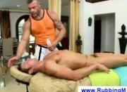 Muscular masseur tries to eat a dick