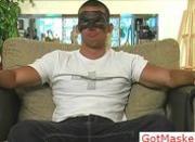 Amazing masked hunk jerking off 1