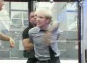Blond gay boy tied suck cocks and gets banged in fetish bdsm gang bang