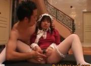 Bucket of cum thrown on Asian sweetheart