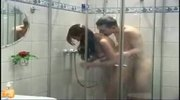 Teen fucking and blowing in the bathroom