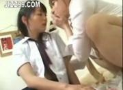 busty schoolgirl seduced by lesbian geek