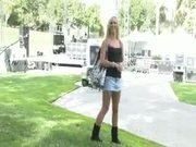 Sophia Knight flashing in public