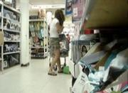 Cute Teen Upskirt in the Luggage Department