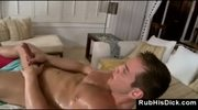 Gay bear assfucking male client after massage