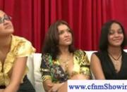 Cfnm girls loving a black seven inch cock