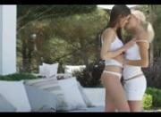 beautiful lesbians in white