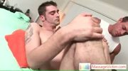 Hunk getting his pooper prepped for some fucking by massagevictim