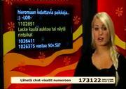 Mtv3 chat Speaker Shows her Bra