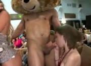 Naughty cfnm real bitch gets a cumshot