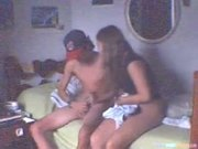 Cutie Rides Her BF Reverse Cowgirl