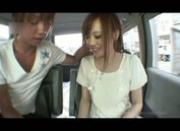 Japanese chick gets bangged on the van