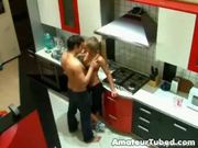 Voyeur Sex in kitchen