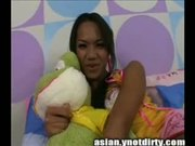 Asian tgirl ass hard fucked