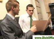 Two horny businessmen sucking cock