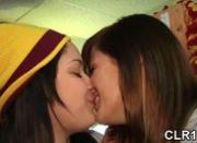 Horny college coeds show