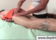 Hot gay gets ass massaged