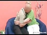 Horny bald gay gives blowjob and swamp hot sperm