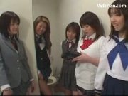 5 Schoolgirls In Uniform Pissing