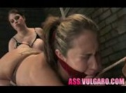 Domina With Huge Tits Punishes a Female Slave