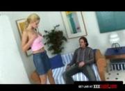 Blonde Amateur Gets Rimjob and Facial