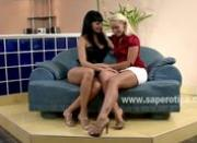 Beautifull pair of lesbian babes with hot amazing bodies touching eachother and undressing
